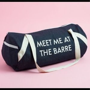 🍭Meet me at the barre sport gym bag fab fit fun